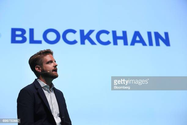 Peter Smith chief executive officer of Blockchain Ltd speaks during the Noah technology conference in Berlin Germany on Thursday June 22 2017 The...