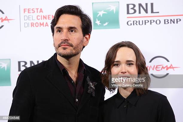 Peter Sollett and Ellen Page attend a photocall for 'Freeheld' during the 10th Rome Film Fest on October 18 2015 in Rome Italy