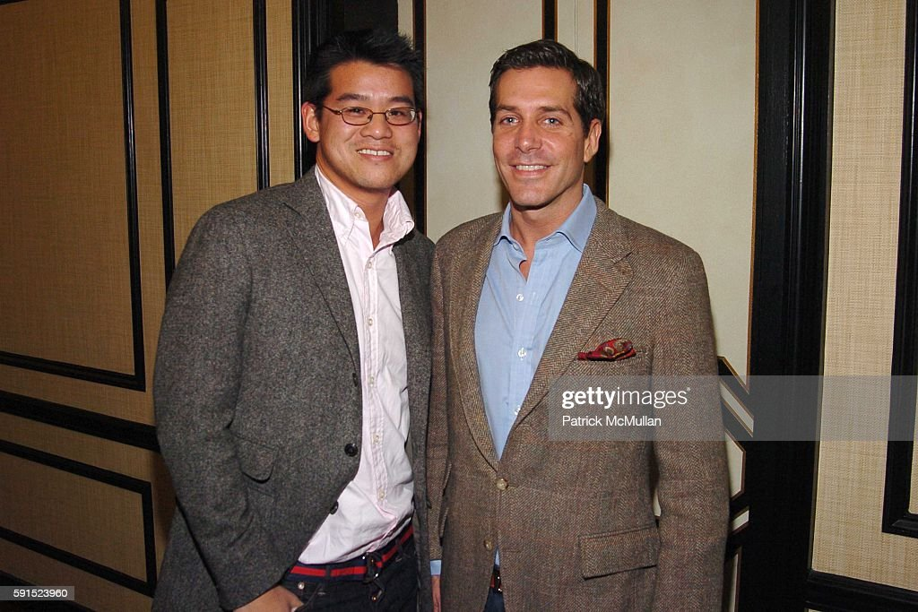 Peter Som and Christian Leone attend JIM GOLD of BERGDORF GOODMAN hosts a Dinner to Celebrate the Opening of their New Restaurant 'BG' at BG on...
