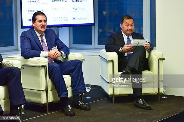 Peter Sotoloff and Drew D Fung attend The Commercial Observer Financing Commercial Real Estate at 666 Fifth Avenue on November 15 2016 in New York...