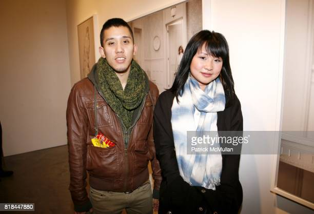 Peter Sriployrung and Helen Shih attend ERWIN OLAF Opening Reception at Hasted Hunt Kraeutler on January 28 2010 in New York