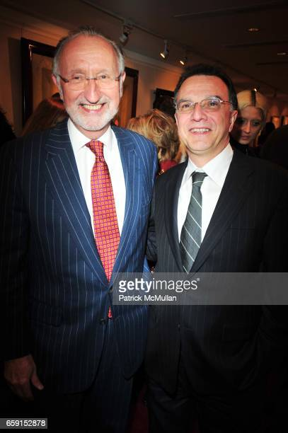 Peter Standish and John Sanchez attend The EAST SIDE HOUSE SETTLEMENT GALA preview of the 2009 New York International Auto Show at Wally Findlay...