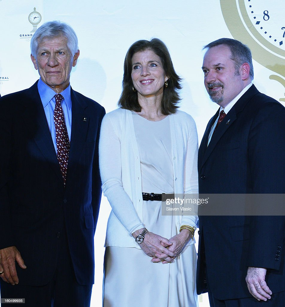 Peter Stangl, <a gi-track='captionPersonalityLinkClicked' href=/galleries/search?phrase=Caroline+Kennedy&family=editorial&specificpeople=93208 ng-click='$event.stopPropagation()'>Caroline Kennedy</a> and guest attend the Grand Central Terminal 100th Anniversary Celebration at Grand Central Terminal on February 1, 2013 in New York City.