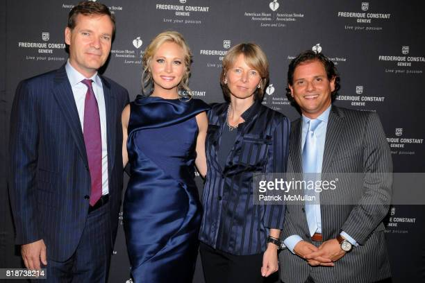 Peter Stas Candice Accola Aletta Stas and Ralph Simons attend Frederique Constant's Passion Award at Cipriani Wall St on June 29 2010 in New York City