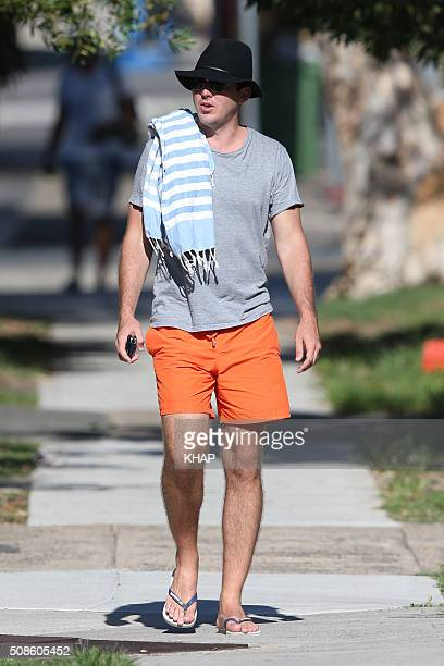 Peter Stefanovic sighted after having lunch with girlfriend Sylvia Jeffreys on January 31 2016 at North Bondi Fish Sydney Australia
