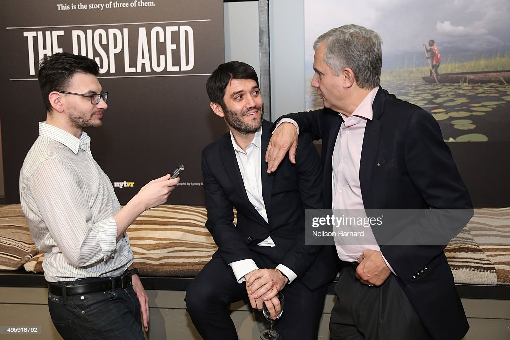 Peter Sterne Editor of The New York Times Magazine Jake Silverstein and Publisher of The New York Times Arthur Sulzberger Jr attend The New York...