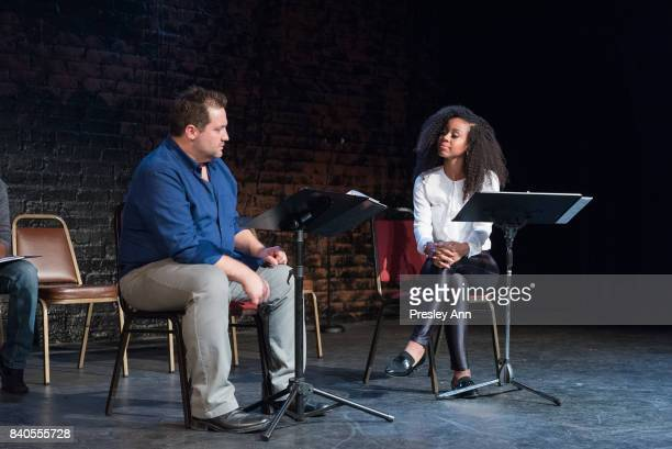 Peter Story and Danielle Mone Truitt attend More Than A Hashtag at The Matrix Theatre on August 28 2017 in Los Angeles California