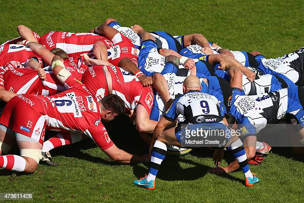 Peter Stringer of Bath feeds the ball into the scrum during the Aviva Premiership match between Bath Rugby and Gloucester Rugby at the Recreation...
