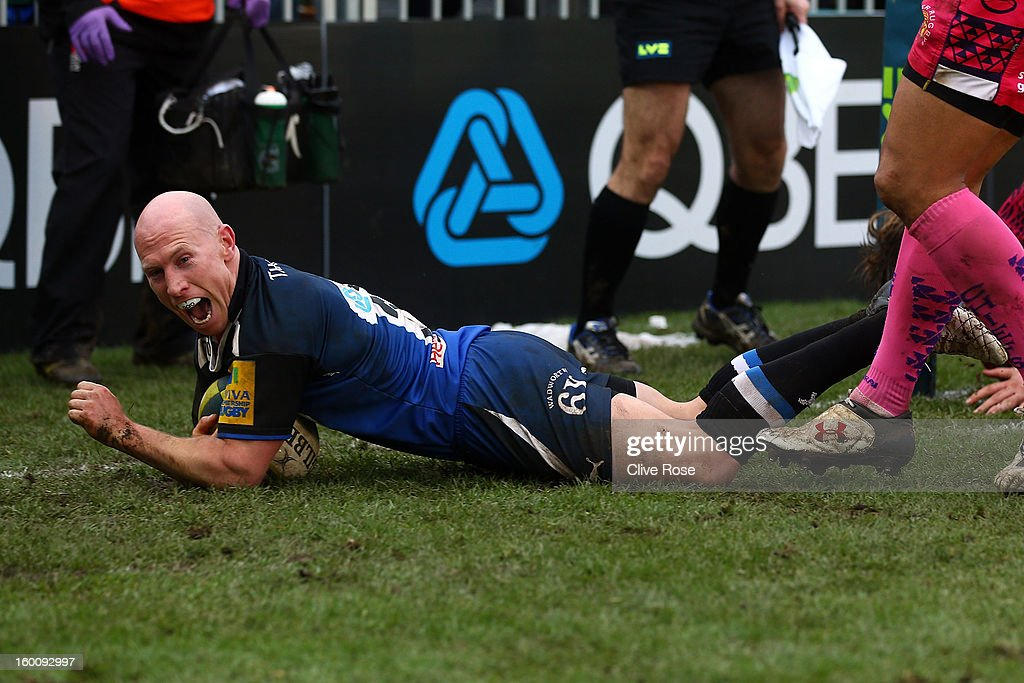 <a gi-track='captionPersonalityLinkClicked' href=/galleries/search?phrase=Peter+Stringer&family=editorial&specificpeople=217507 ng-click='$event.stopPropagation()'>Peter Stringer</a> of Bath goes over to score a try during the LV= Cup match between Bath and Exeter Chiefs at the Recreation Ground on January 26, 2013 in Bath, England.