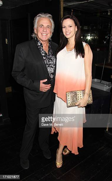 Peter Stringfellow and wife Bella attend the launch party for the 'She Wears a Crown' fashion website at the Rose Club on June 20 2013 in...