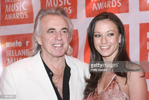Peter Stringfellow and Wife Bella during Meteor Ireland Music Awards 2006 Red Carpet at The Point in Dublin Ireland