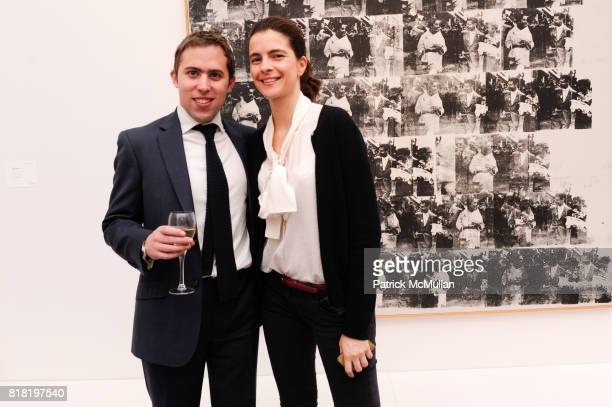 Peter Sumner and Laetitia Catoir attend PHILLIPS DE PURY Company's opening reception for CARTE BIANCHE PHILLIPE SEGALOT and Contemporary Art Part I...