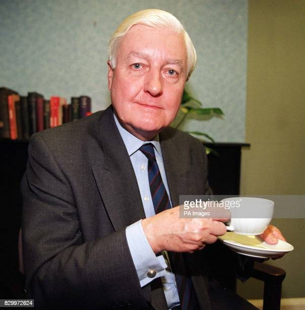 Peter TempleMorris Conservative MP for Leominster takes a break before his interview at the ITN studios in London today following his decision to...