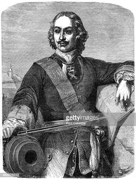 Peter the Great 19th century Peter the Great was Tsar of Russia from 1682 to his death in 1725 Print taken from Cassell's Illustrated History of...