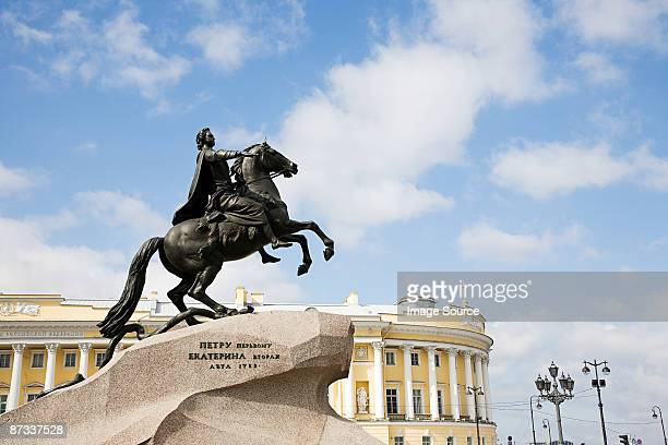 Peter the great monument in st petersburg