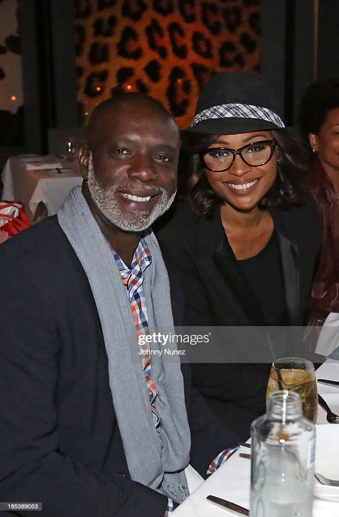 Peter Thomas and Cynthia Bailey attend the launch event for their book 'Carry-On Baggage: Our Non-stop Flight' at Clyde Frazier's Wine and Dine on October 19, 2013 in New York City.