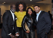 Peter Thomas Cynthia Bailey Phaedra Parks and Apollo Nida attend the opening night of 'A Mother's Love' at Rialto Center for the Arts on November 22...