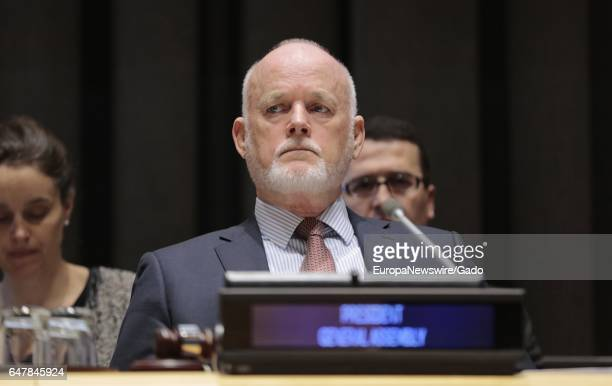 Peter Thomson President of the General Assembly participating in highlevel thematic discussions on the global observance of World Wildlife Day at the...