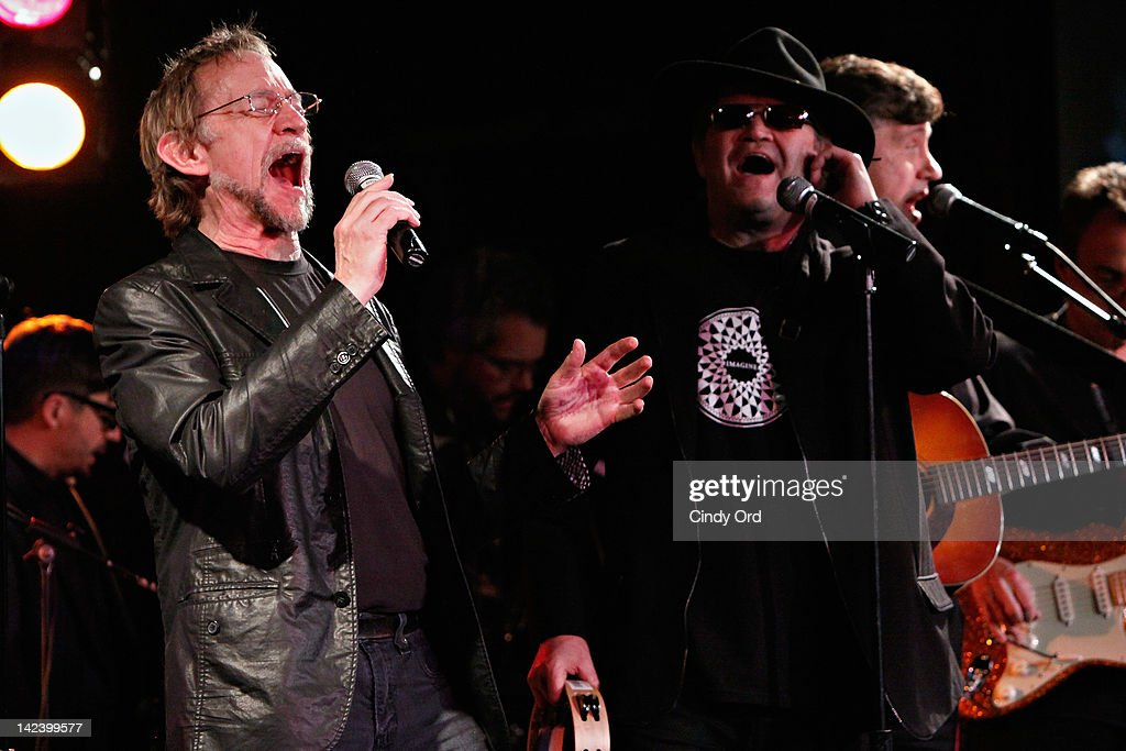Peter Tork and Micky Dolenz of The Monkees perform at The Davy Jones Memorial 'An Evening of Music Memories' at BB King Blues Club Grill on April 3...