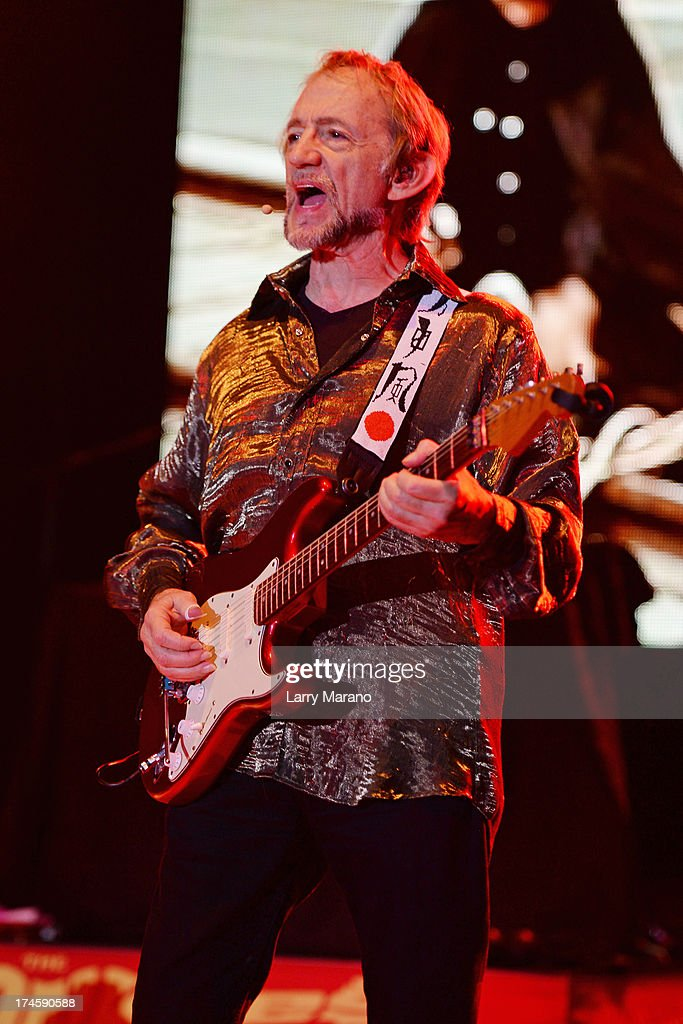 Peter Tork of The Monkees performs at Mizner Park Amphitheatre on July 27 2013 in Boca Raton Florida