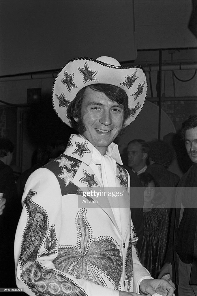 Peter Tork of the Monkees wearing decorated Western wear with stars circa 1970 New York