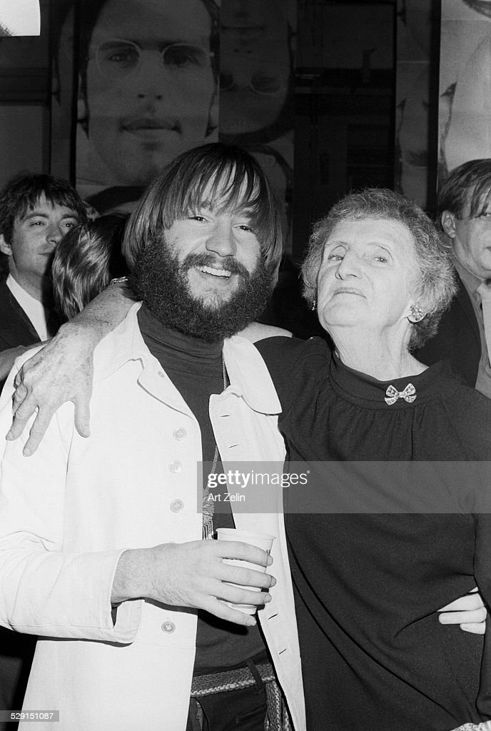 Peter Tork of the Monkees with a friend at an event circa 1970 New York