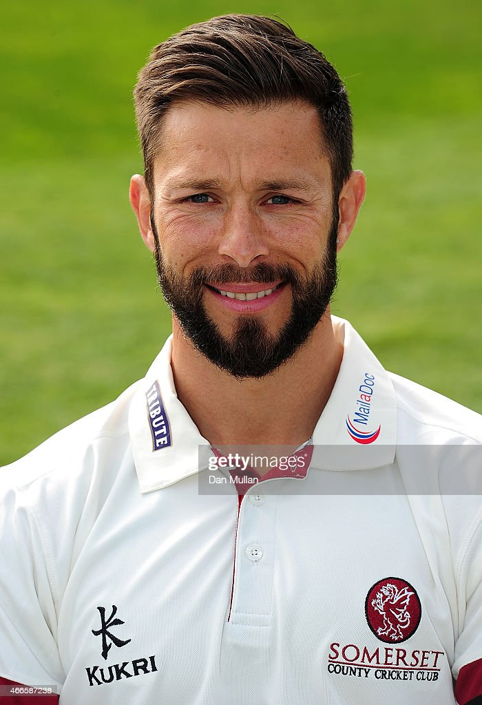 Peter Trego of Somerset poses during the Somerset CCC Photocall at The County Ground on March 17 2015 in Taunton England