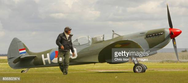 Peter Tuplin MD of Classic Aero engineering at Truxton Airfield near Andover Hampshire who restored the MkIX rare twoseat Spitfire which is due to go...