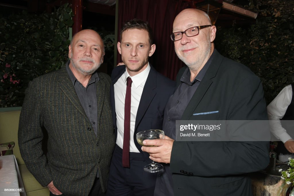Peter Turner, Jamie Bell and Colin Vaines attend the PORTER & Lionsgate UK after party for 'Film Stars Don't Die In Liverpool' at Mark's Club on October 12, 2017 in London, England.