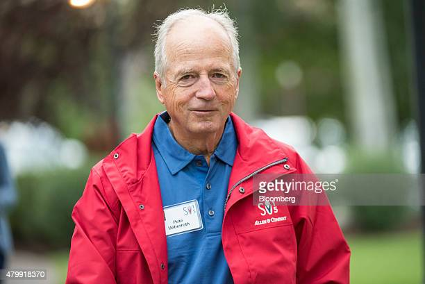 Peter Ueberroth chairman of Contrarian Group Inc arrives for a morning session during the Allen Co Media and Technology Conference in Sun Valley...