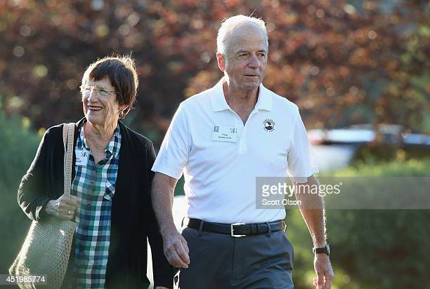 Peter Ueberroth chairman of Contrarian Group Inc attends the Allen Company Sun Valley Conference on July 10 2014 in Sun Valley Idaho Many of the...