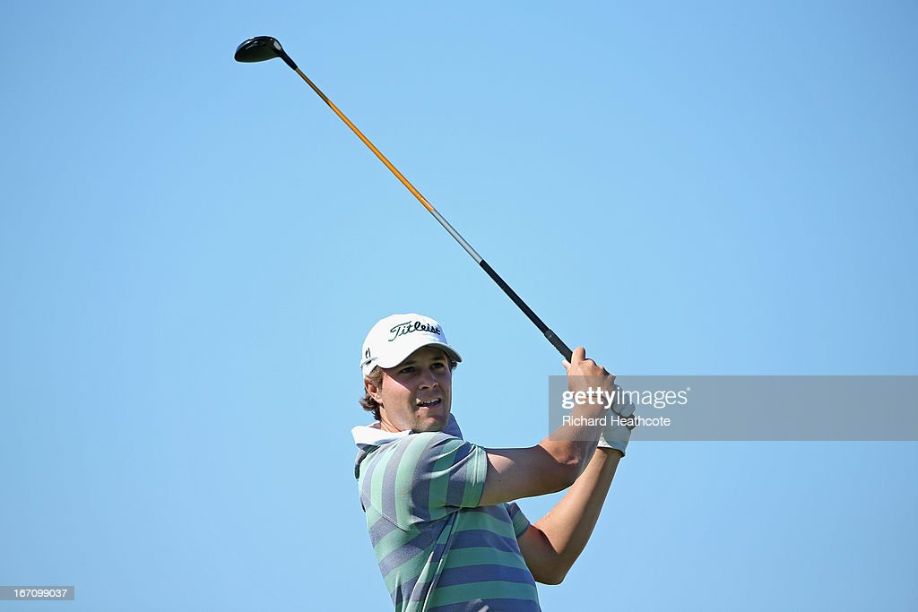 <a gi-track='captionPersonalityLinkClicked' href=/galleries/search?phrase=Peter+Uihlein&family=editorial&specificpeople=5511785 ng-click='$event.stopPropagation()'>Peter Uihlein</a> of the USA tee's off at the 16th during the Third round of the Open de Espana at Parador de El Saler on April 20, 2013 in Valencia, Spain