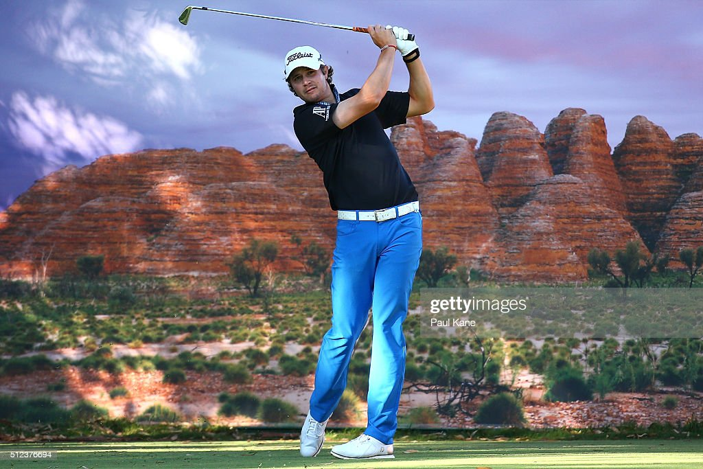 Peter Uihlein of the USA watches his tee shot on the 14th hole during day two of the 2016 Perth International at Karrinyup GC on February 26 2016 in...