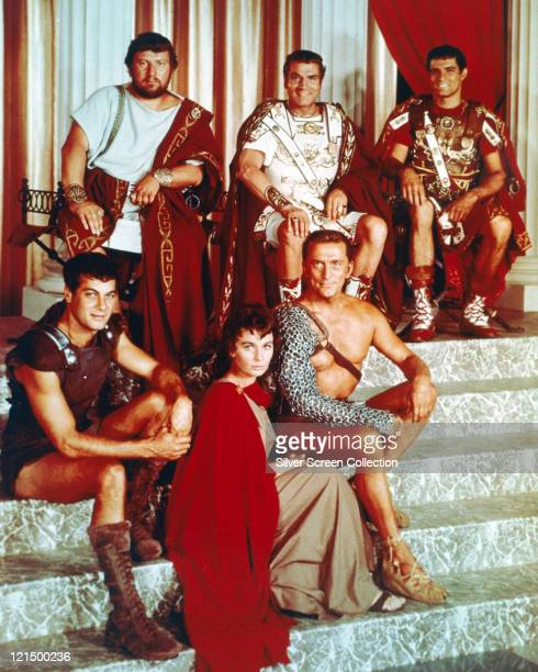 Peter Ustinov British actor Laurence Olivier British actor John Gavin US actor Tony Curtis US actor Jean Simmons British actress and Kirk Douglas US...