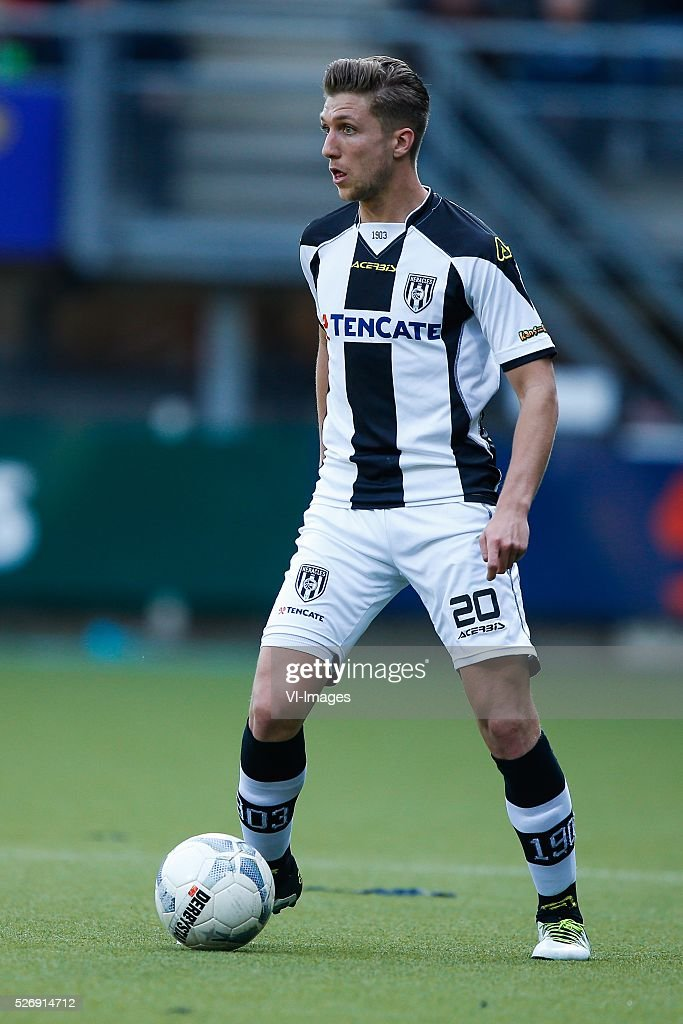Peter van Ooijen of Heracles Almelo during the Dutch Eredivisie match between Heracles Almelo and ADO Den Haag at Polman stadium on May 01, 2016 in Almelo, The Netherlands