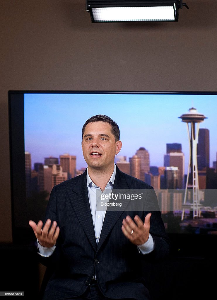 Peter Vessenes, executive director of Bitcoin Foundation, speaks during an interview in Seattle, Washington, U.S., on Thursday, April 11, 2013. Created four years ago by a person or group using the name Satoshi Nakamoto, Bitcoin is a virtual currency that can be used to buy and sell a broad range of items -- from cupcakes to electronics to illegal narcotics. Photographer: Ron Wurzer/Bloomberg via Getty Images