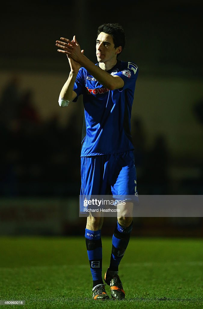 Peter Vincenti of Rochdale salutes the fans after the FA Cup Third Round match between Rochdale and Nottingham Forest at Spotland Stadium on January...