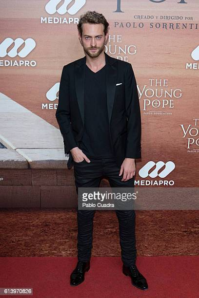 Peter Vives attends the 'The Young Pope' premiere at Palafox Cinema on October 11 2016 in Madrid Spain