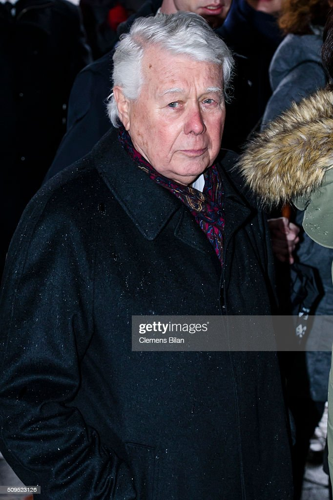 Peter Weck attends the Wolfgang Rademann memorial service on February 11, 2016 in Berlin, Germany.