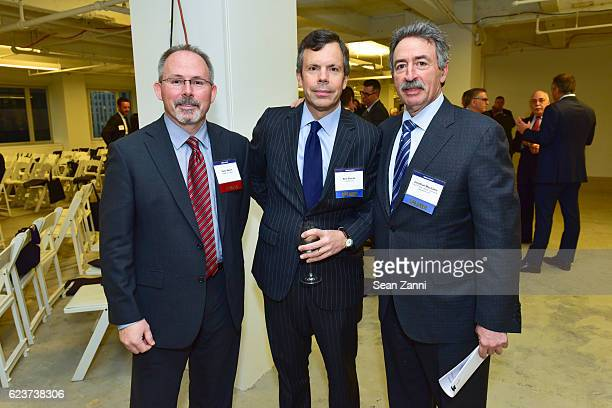 Peter Welch Ben Stacks and Jonathan Mechanic attend The Commercial Observer Financing Commercial Real Estate at 666 Fifth Avenue on November 15 2016...