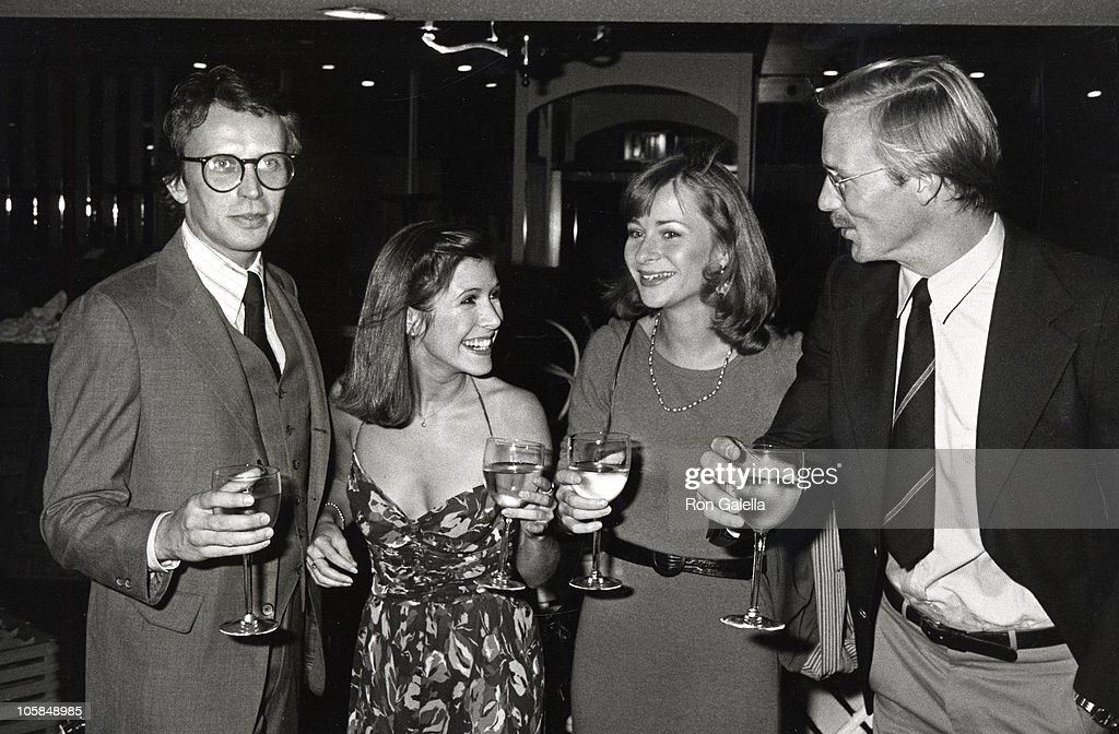 Peter Weller, Carrie Fisher and guests during Giorgio Armani Fashion Show - September 19, 1980 at RCA Promenade in New York City, New York, United States.