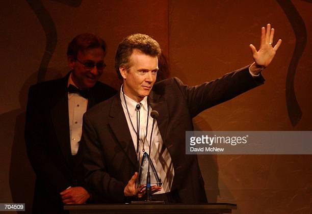 Peter White accepts the award for Guitarist of the Year at the 3rd Annual National Smooth Jazz Awards March 2 2002 in San Diego CA