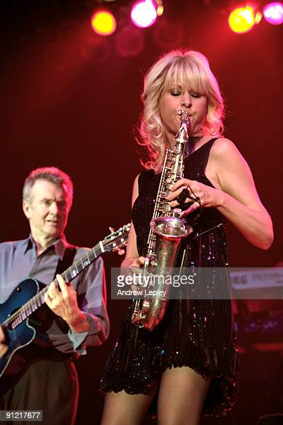 Peter White and Mindi Abair performing on stage at the 2009 Berks Jazz Festival on March 27th 2009 in Reading Pennsylvania