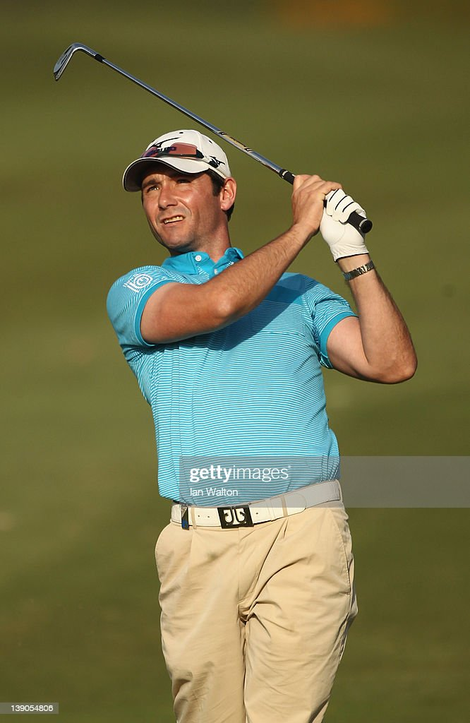 Peter Whiteford of Scotland in action during the first round of the Avantha Masters at DLF Golf and County Club on February 16 2012 in New Delhi India