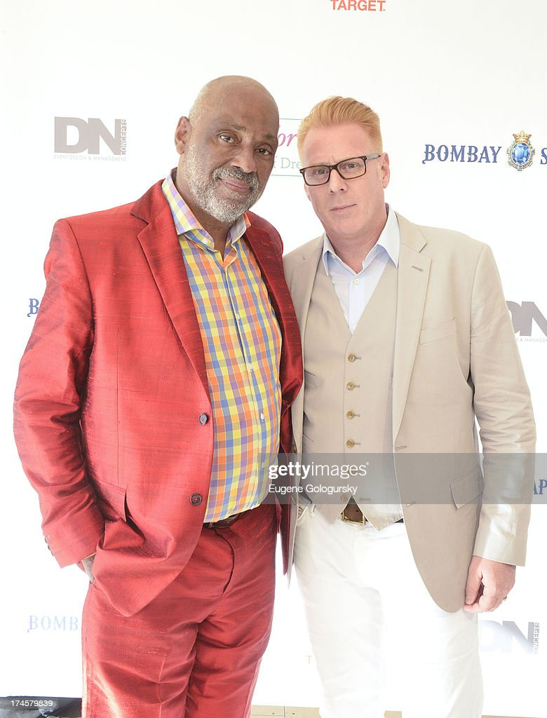 Peter Wijk and Danny Simmons attend the Russell Simmons 14th Annual Art For Life Benefit Sponsored By BOMBAY SAPPHIRE Gin at Fairview Farms on July 27, 2013 in Bridgehampton, New York.