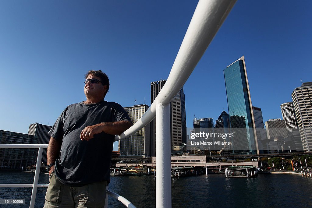 Peter Willcox, Captain of the Greenpeace Rainbow Warrior stands at the bow whilst docked at the Overseas Passenger Terminal in Circular Quay on March 24, 2013 in Sydney, Australia. The vessel is in Australia to protest new coal mines set to open near the Great Barrier Reef, and is opening for public viewing at ports across the country. The original Rainbow Warrior was bombed and sunk in Auckland Harbour in 1985 by two French intelligent agents, killing a Dutch photographer on board.