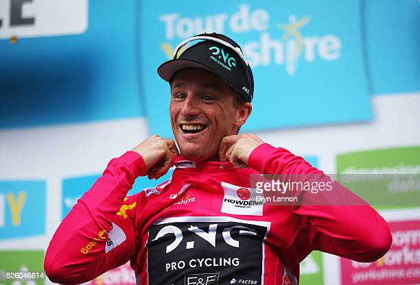Peter Williams of One Pro Cycling and Great Britain wins the pink jersey during the first stage of the 2016 Tour de Yorkshire from Beverley to Settle...