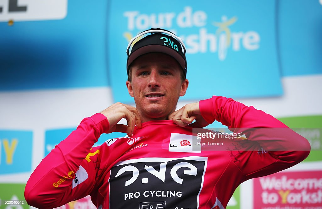 Peter Williams of One Pro Cycling and Great Britain wins the pink jersey during the first stage of the 2016 Tour de Yorkshire from Beverley to Settle on April 29, 2016 in Settle, England.