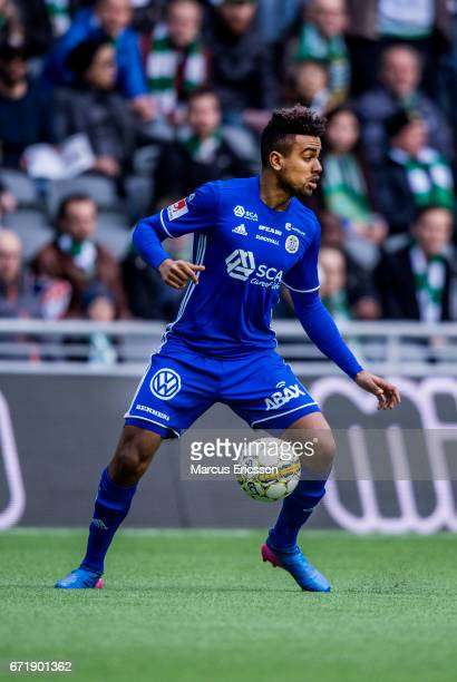 Peter Wilson of GIF Sundsvall during the Allsvenskan match between Hammarby IF and GIF Sundsvall at Tele2 Arena on April 23 2017 in Stockholm Sweden