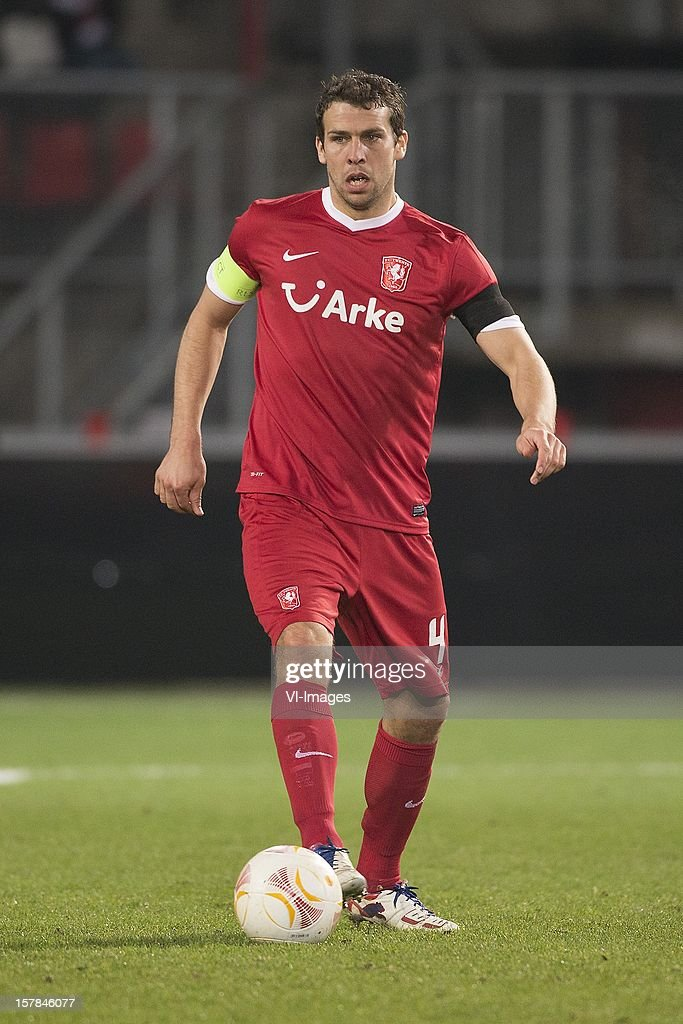 Peter Wisgerhof of FC Twente during the Europa League match between FC Twente and Helsingborgs IF at the Grolsch Veste on December 6, 2012 in Enschede, The Netherlands.